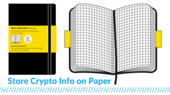 How to Buy Cryptocurrency Paper Notebook