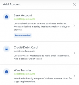 Buy cryptocurrency with bank account