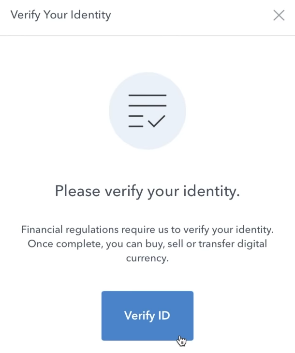 how to buy cryptocurrency verify ID