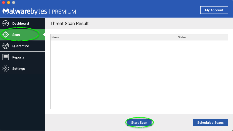 malwarebytes screen 8 scan