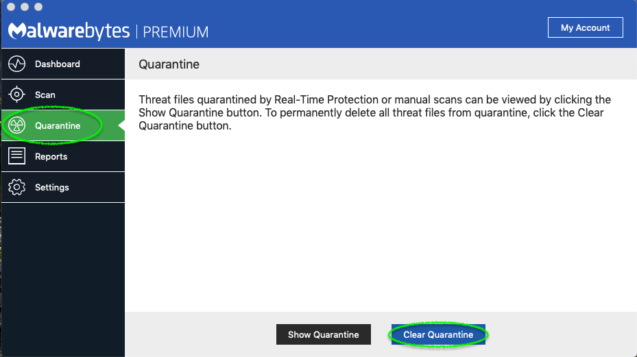 malwarebytes screen quarantine