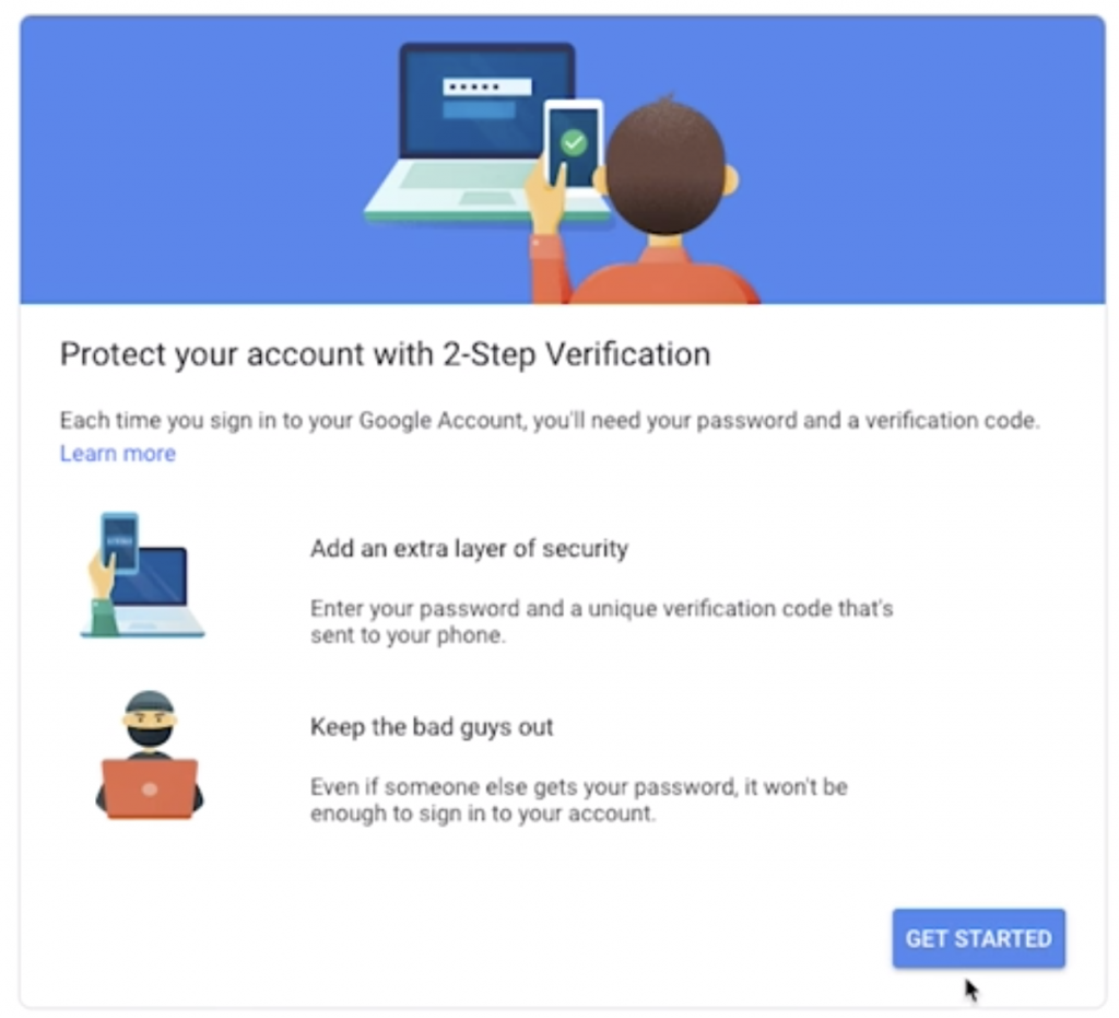 Google Authenticator Get Started