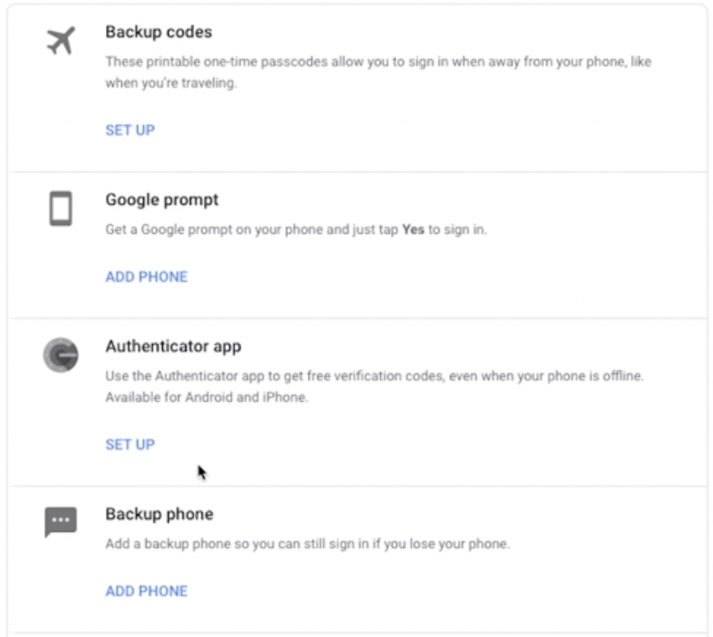 Set Up Authenticator App