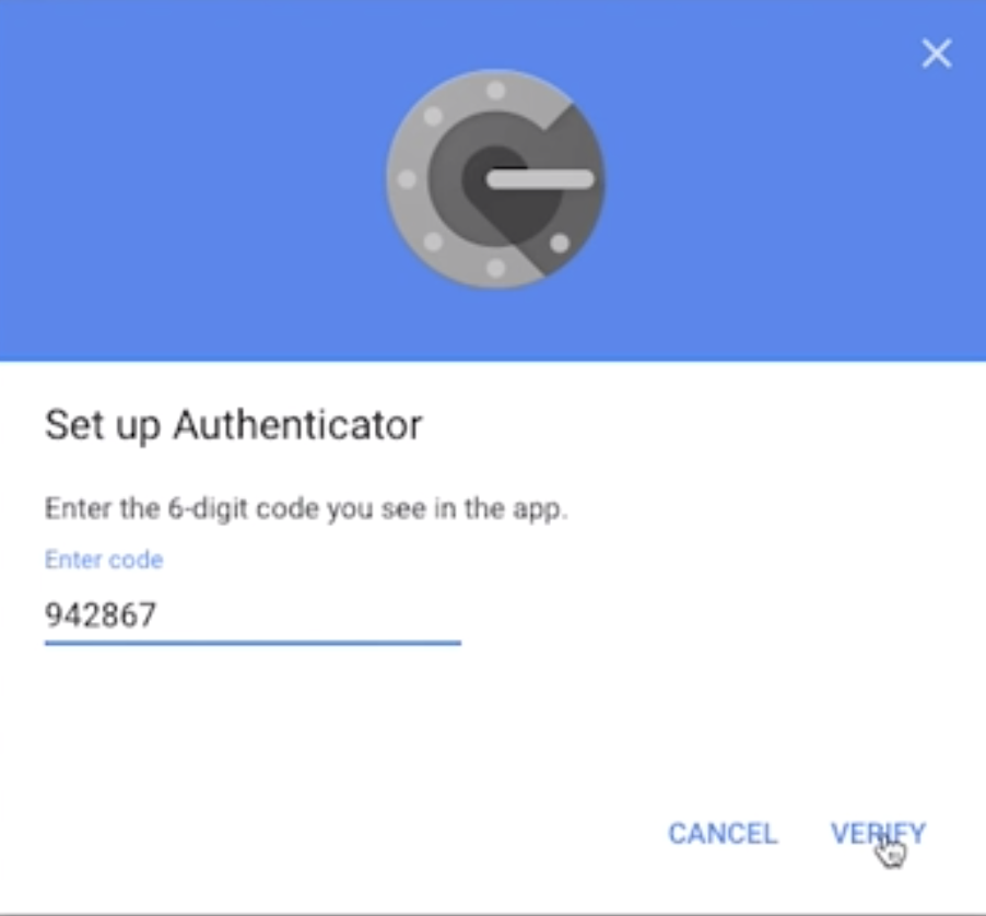 Verify Code Google Authenticator